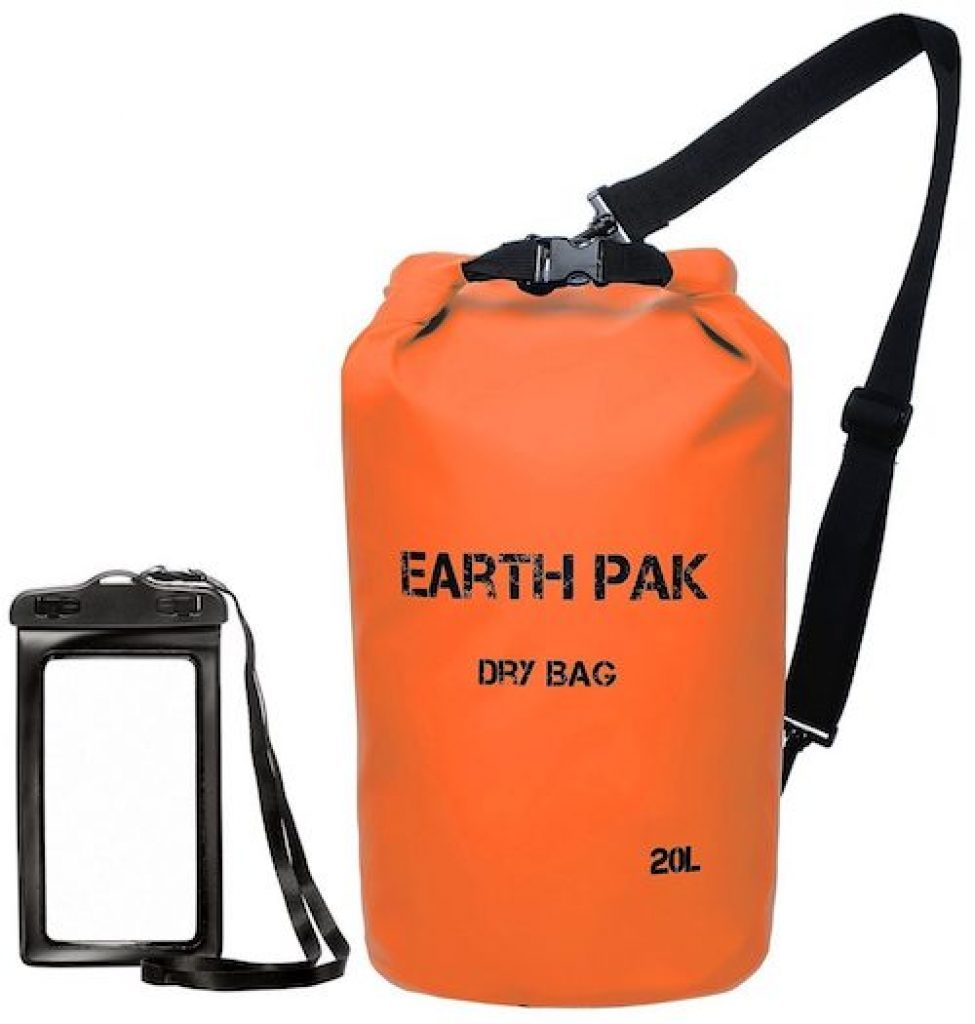 Earth Pak dry bags will keep your belongings nice and dry.