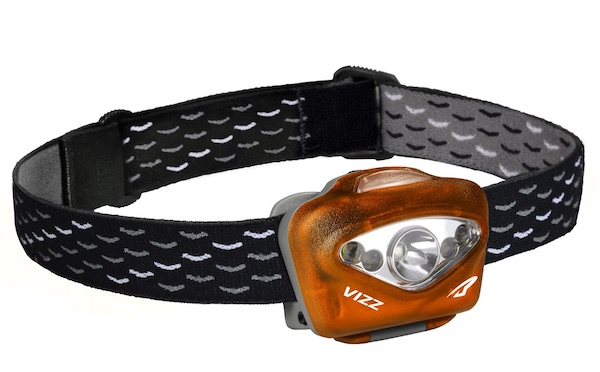 The Princeton Tec Vizz headlamp is waterproof down to 1m for 30 mins, which makes it great for kayak fishing.