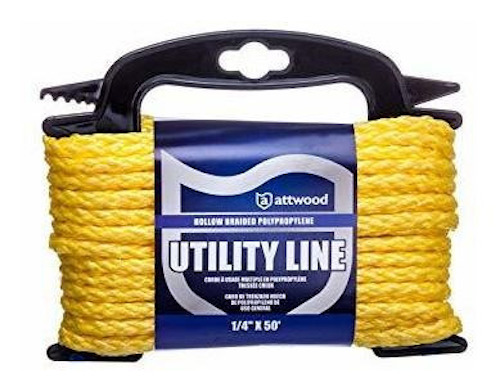 Attwood Polypropylene Marine Utility Cord is designed to float in the water.