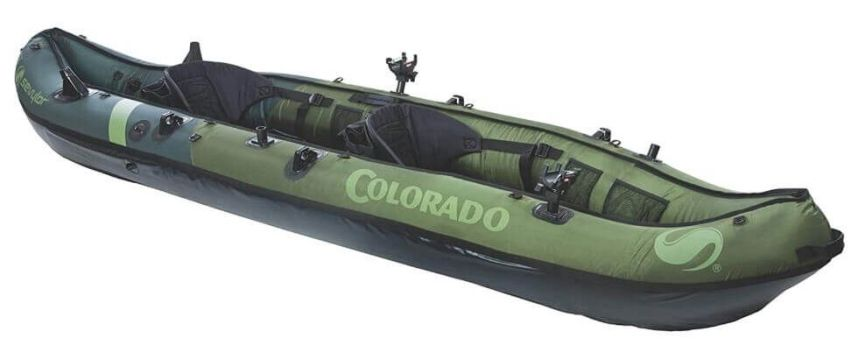 Sevylor Coleman Colorado inflatable fishing kayak