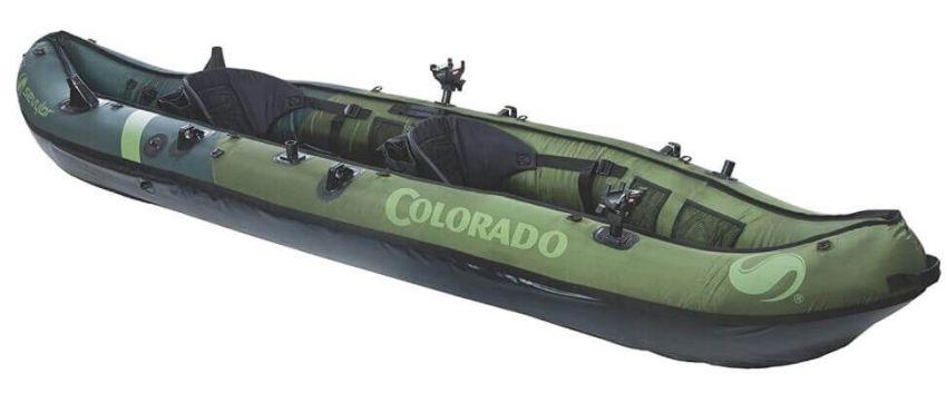 Sevylor Coleman Colorado inflatable fishing kayak