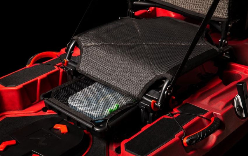 Vibe Shearwater 125 tray under the seat