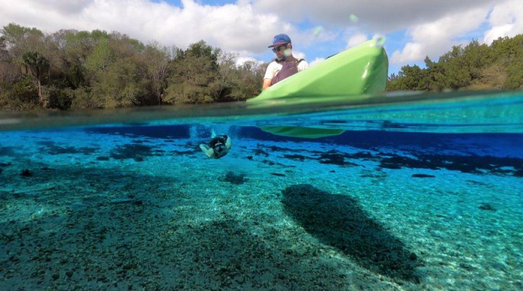Crescent CK1 Venture kayak hull underwater