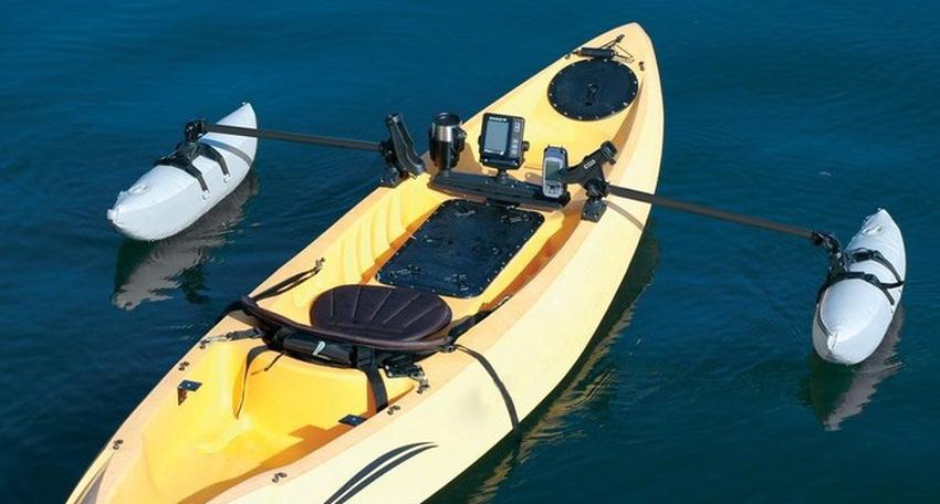 Kayak stabilizing