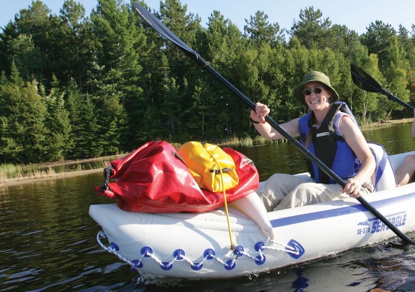 Man in a Sea Eagle kayak