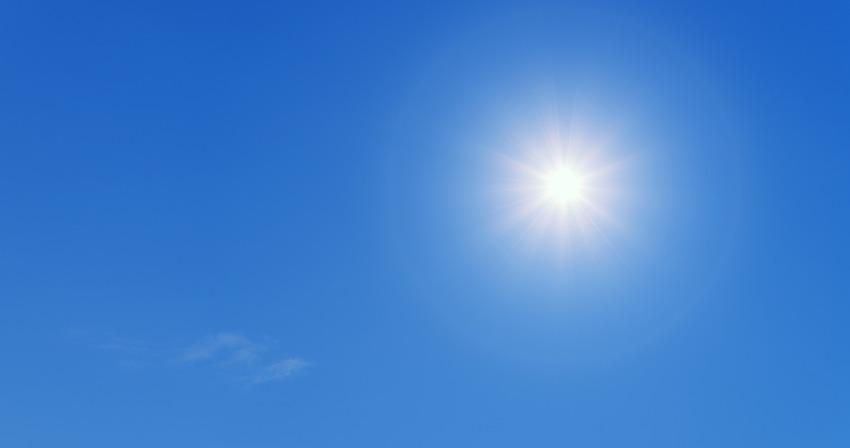 Sunlight and blue sky